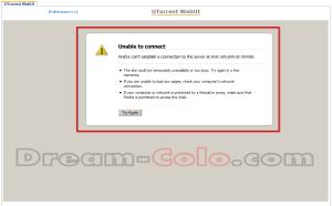 UTorrent WebUI Error unable to connect